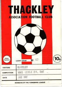 Thackley FC programme