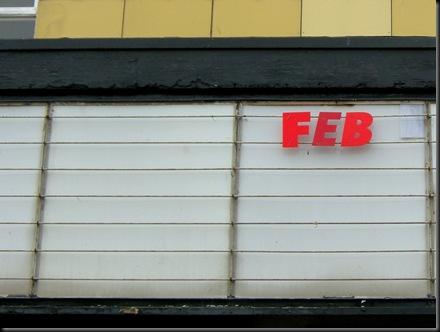 Feb lettering